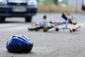 bike and pedestrian accident